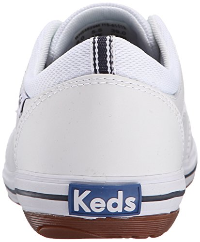 Sneaker In Pelle Bianca Di Prestigio Moda Donna Keds