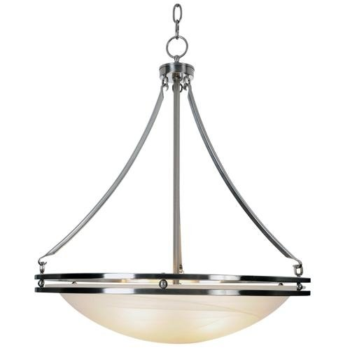 Monument 617601 Contemporary Lighting Collection Chandelier, Brushed Nickel, 20-5/8-Inch W by 23-1/2-Inch H