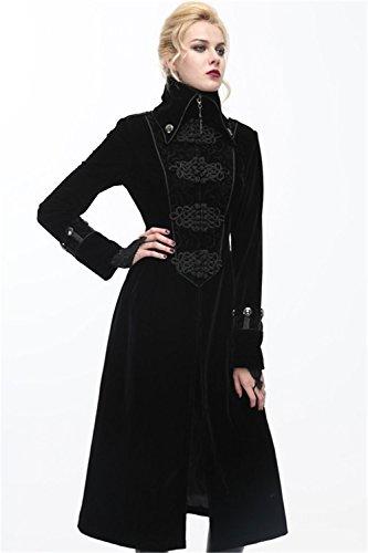 Longue Hiver Velveteen Devil Gothique Punk Vampire Veste Fashion Femmes wUYYXqBf