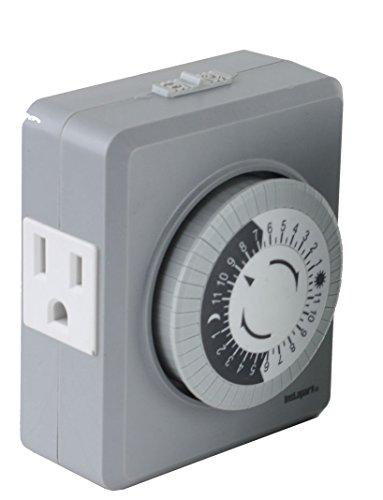 Tu19 24-hr 15 Amp Plug in Mechanical Wall Timer Switch Dual