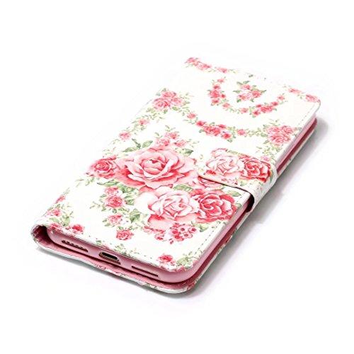 COWX iPhone X Hülle Kunstleder Tasche Flip im Bookstyle Klapphülle mit Weiche Silikon Handyhalter PU Lederhülle für Apple iPhone X Tasche Brieftasche Schutzhülle für iPhone X schutzhülle C9wM8