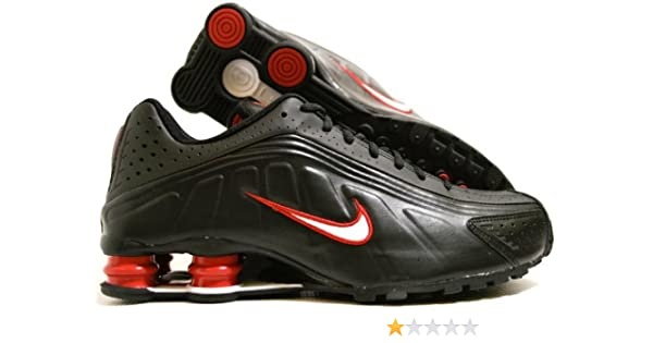 new concept c834f ecded Nike Shox R4 Black White Red 104265-014-11  Amazon.ca  Shoes   Handbags