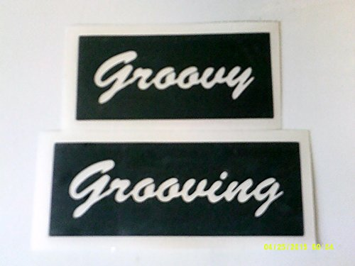 12 x Groovy & Grooving word stencils (mixed) for etching on glass gift present glassware hobby craft festival hippy from Dazzle Glitter Tattoos