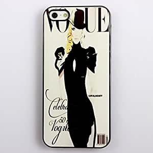 Modern Girl Design Aluminum Hard Case for iPhone 5/5S