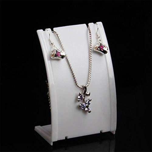 super1798 Bust Neck Shape Pendant Necklace Chain Earring Display Stand Showcase - - Pendant Necklace Display Stand