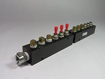 Pneumadyne M30-375-7 1//2 NPT Input 3//8 NPT Output 7-Station Inline Manifold