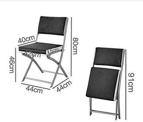 YCSD Chaises Pliantes Chaise De Salle À Manger Rembourrée en Faux Cuir Noir,Approprié À La Formation De Conférence De Bureau À La Maison,Pack-4