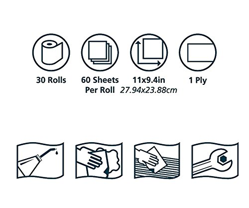 Tork Advanced 450360 ShopMax Wiper 450, Roll Towel, 1-Ply, 11'' Width x 9.4'' Length, Blue/White (Case of 30 Rolls, 60 per Roll, 1800 Towels) by Tork (Image #5)