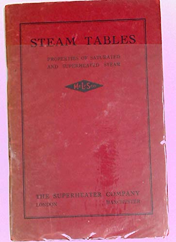Steam Tables. Properties of Saturated and Superheated Steam.