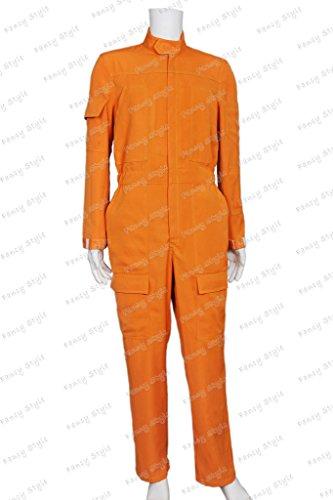 Star Wars X-Wing Pilot Cosplay Costume Jumpsuit Orange Custom Made