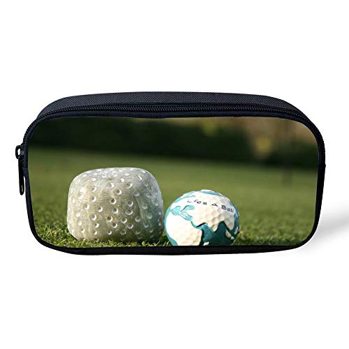 CUYcolorfulpencilbagPOI Golf Ball Sport Green SpacePrint Pencil Bag Canvas Durable Colored Pen Bag Kids School Stationery Pencil Case Women Casual Cosmetic Bags]()