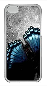 iPhone 5c case, Cute Garage Floor Butterfly iPhone 5c Cover, iPhone 5c Cases, Hard Clear iPhone 5c Covers by mcsharks
