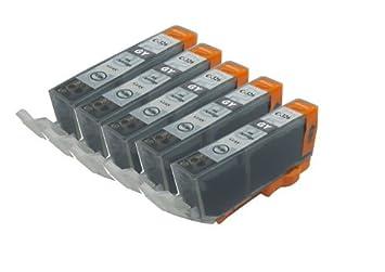 【クリックで詳細表示】【Ecolink】Canon キヤノン BCI-326GY グレー 単品5個セット ICチップ付き BCI-326+325/6MP 対応 互換インクカートリッジ