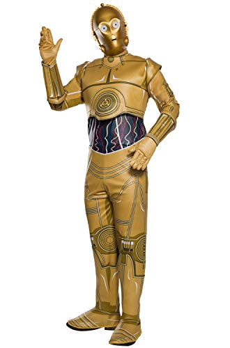 Rubie's Unisex-Adult's Standard Star Wars Classic C-3PO Costume, as as Shown Small]()