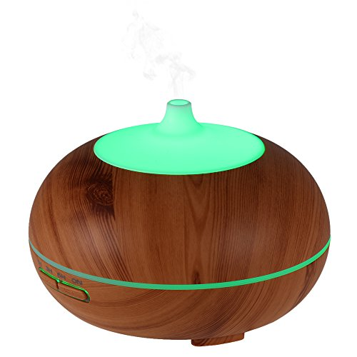 Anself 300ml Cool Mist Humidifier Ultrasonic Aroma Essential Oil Diffuser 7 Colors LED light Air Humidifier