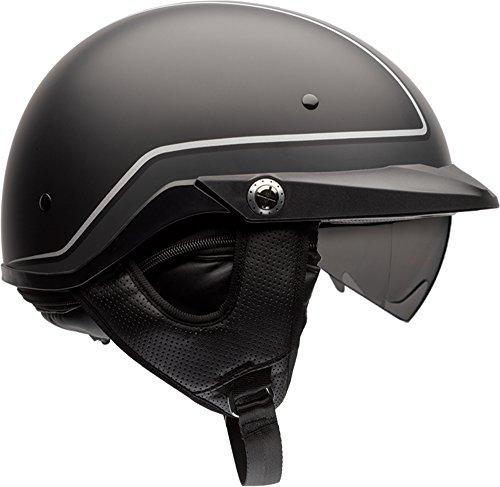 Bell Pit Boss Open-Face Motorcycle Helmet (Pinstripe Black/Grey, Large)