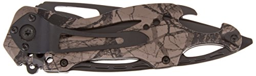 TAC Force TF-705FC Assisted Opening Tactical Folding Knife, Black Half-Serrated Blade, Fall Camo Handle, 4-1/2-Inch Closed