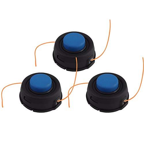 Lnicesky,3Pcs for Husqvarna T35 Auto Feed Tap Advance Trimmer Head 10mm Dual Line Black