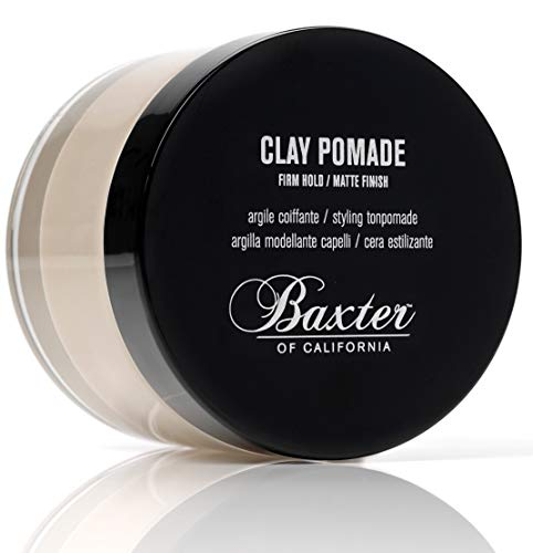 Baxter of California Clay Pomade, Matte Finish/Strong Hold, Hair Pomade for Men, 2 fl. oz. (He Puts The Lotion On His Skin)