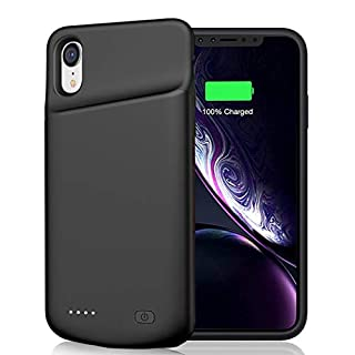 Battery Case for iPhone XR, 6000mAh Portable Rechargeable Battery Pack Charging Case Compatible with iPhone XR (6.1 inch) Extended Battery Charger Case (Black)