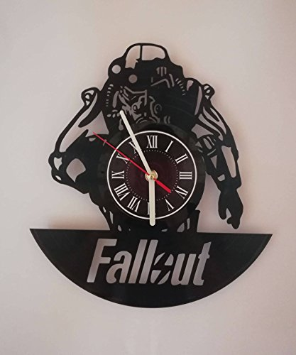 FALLOUT GAME Handmade Vinyl Record Wall Clock - Get unique home room wall decor - Gift ideas for parents, teens – FALLOUT 4 GAME PC ART