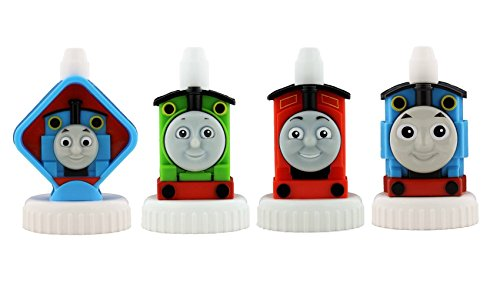 Good2grow Spill Proof Bottle Toppers 4 Pack  Thomas The Train   Thomas  Percy  James   Thomas
