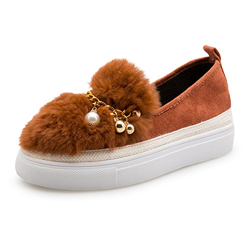 Flat Shoes Women Platform Moccasins Women Slip On Women Loafers Shoes Brown - Shop Oliver Online St