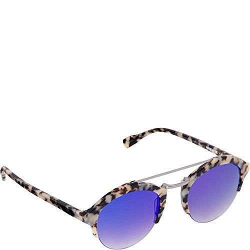 Elie Tahari Women's EL231 OAT Round Sunglasses, Oatmeal, 52 mm (Oatmeal Glass)