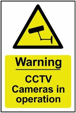 SIGNSLAB A5 CCTV IN OPERATION PVC