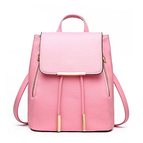 sfpong - Bolso mochila  para mujer blanco beige large rosa