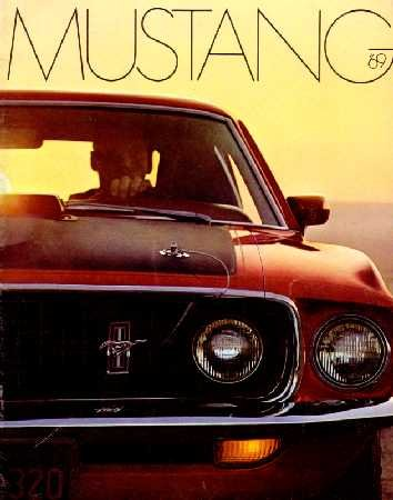 1969 FORD MUSTANG Sales Brochure Literature Book Piece