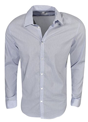 Calvin Klein Mens Long-Sleeve Woven Button Down Solid Shirt