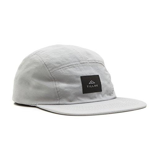 Tillak Wallowa Camp Hat, Lightweight Nylon 5 Panel Grey Cap With Snap Closure