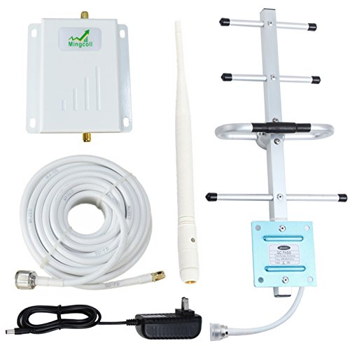 Verizon 4G Lte 700MHz Band 13 Cell Phone Signal Booster Mingcoll Cell Phone Signal Repeater Booster for Home and Office (Yagi/whip(white-Verizon-Band 13-JXP))