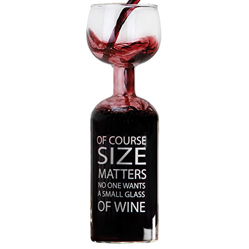giant oversized novelty wine glass xl huge cup attached on top import it all. Black Bedroom Furniture Sets. Home Design Ideas