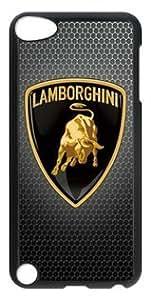 Lamborghini Car Logo 004 Ipod Touch 5 PC Black Sides Hard Shell Case by eeMuse