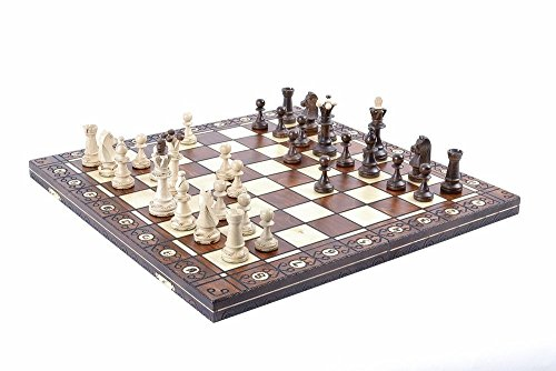 Wegiel Chess Set - Consul Chess Pieces and Board - European Wooden Handmade Game - JUNIOR (Bear Chess Set)