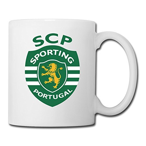 White Sporting Lisbon Sab04Fl Ceramic Coffee Mug Cup 11oz Unisex Printed On Both Sides