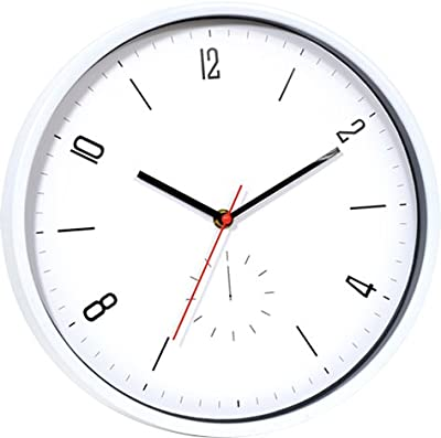 """YAVIS 12"""" Inch Battery Operated Silent & Non-ticking Wall Clock,Plastic Frame Glass Cover,decorative"""