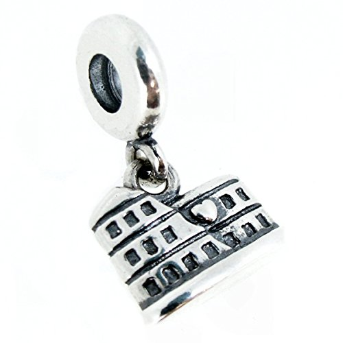Landmark Series Sterling Silver Rome Colosseum Dangle European-style Bead Charm