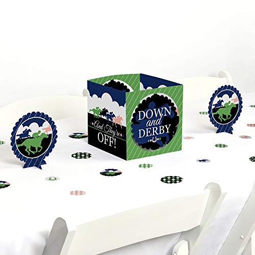 Big Dot of Happiness Kentucky Horse Derby - Horse Race Party Centerpiece and Table Decoration Kit]()