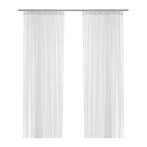 IKEA LILL-Voilage - 1 Paire-Blanc - 280 x 300 cm