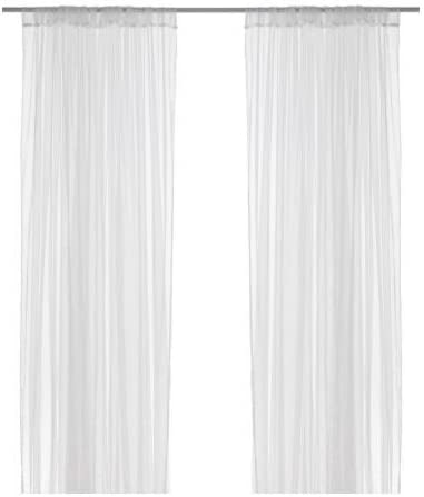 IKEA LILL - Sheer curtains, 1 pair, white - 280x300 cm: Amazon.es ...