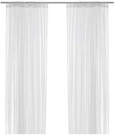 IKEA LILL - Sheer curtains, 1 pair, white - 280x300 cm: Amazon.es ...