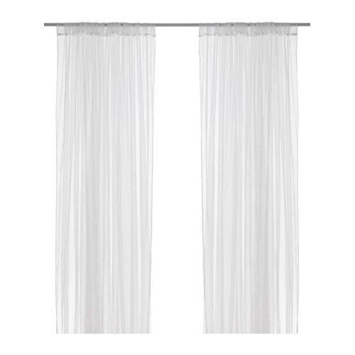 ikea lill sheer curtains pair white x cm