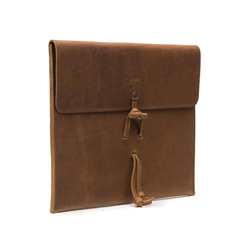 Saddleback Leather Document Holder - Fire / Water Resistant Leather Document Protector Organizer Case with 100 Year Warranty - Leather Legal Document