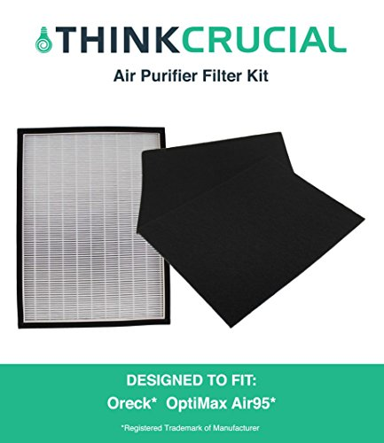 Replacement Filter Kit Designed to fit Oreck OptiMax® Air 95 Includes: Air Purifier Filter & 2 Carbon Filters, Designed & Engineered by Crucial Air