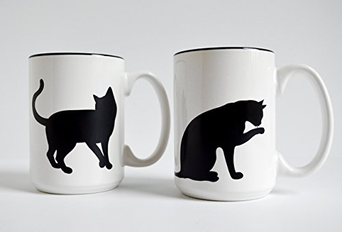 Set of two Cat and Paw Mugs