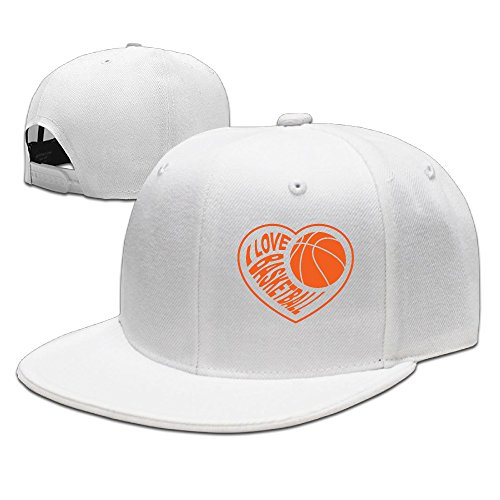 SSEE Unisex Heart Basketball Flat Bill Baseball Cap Hat - Sunglasses Moscow