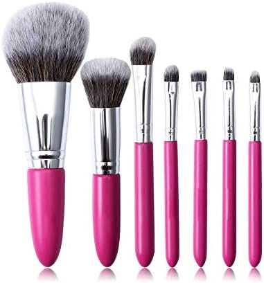HEMFV Set de pinceles de maquillaje de belleza: pinceles de maquillaje con estuche de pinceles, licuadora de belleza, pinceles de ojos 7pcs, pinceles de sombra de ojos, pinceles de mezcla, pinceles de: